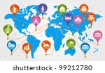 the concept of traveling around ... | Shutterstock .eps vector #99212780