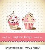 cupcake  card | Shutterstock .eps vector #99217880