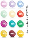 set of 12 glossy sales tags... | Shutterstock .eps vector #9922396