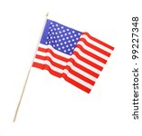american flag isolated on white | Shutterstock . vector #99227348