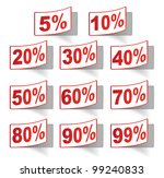 discount label set vector for... | Shutterstock .eps vector #99240833