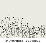 vector retro floral background | Shutterstock .eps vector #99240839