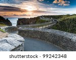 beautiful sunset scene at... | Shutterstock . vector #99242348