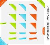 set of vector corner page... | Shutterstock .eps vector #99243014
