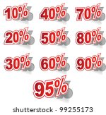discount label set vector for... | Shutterstock .eps vector #99255173
