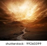 Dramatic Sky Over Road In A...