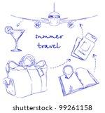 summer travel | Shutterstock .eps vector #99261158