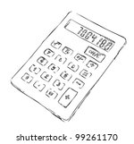 sketch calculator | Shutterstock .eps vector #99261170