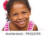 little black girl on white... | Shutterstock . vector #99262190