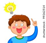 boy coming up with a good idea | Shutterstock .eps vector #99262514