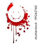a happy vampire symbol made... | Shutterstock .eps vector #99262760
