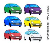 vector set of color cars | Shutterstock .eps vector #99264533
