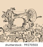 Sewing Machine With Floral...