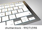 sell button on modern computer keyboard - stock photo