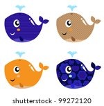 cute abstract whale set... | Shutterstock .eps vector #99272120