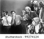 man talking on the telephone... | Shutterstock . vector #99274124