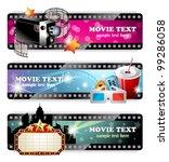 cinema banners  eps 10 | Shutterstock .eps vector #99286058