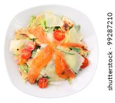 salad  with slices of salmon ... | Shutterstock . vector #99287210