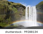 Double Rainbow At The Waterfal...