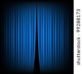 blue closed the curtain  lit by ... | Shutterstock .eps vector #99288173