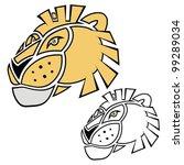 isolated cartoon lion head   Shutterstock .eps vector #99289034