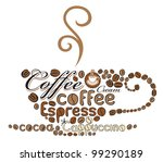 cup of coffee of the words | Shutterstock .eps vector #99290189