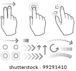 touch screen gesture hand signs | Shutterstock .eps vector #99291410