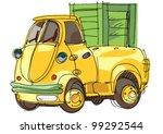 pickup   cartoon | Shutterstock .eps vector #99292544