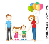 illustration of 3d happy family ... | Shutterstock .eps vector #99293498