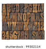 letters and numbers in vintage... | Shutterstock . vector #99302114