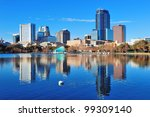 orlando lake eola in the... | Shutterstock . vector #99309140