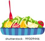 illustration of isolated fruits ... | Shutterstock .eps vector #99309446