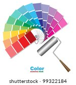 color swatches and paint roller ...