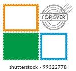 vector blank postage stamp frame | Shutterstock .eps vector #99322778