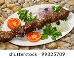 meat beef skewers | Shutterstock . vector #99325709