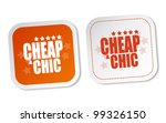 cheap   chic stickers | Shutterstock .eps vector #99326150