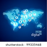 conceptual social networking... | Shutterstock .eps vector #99335468