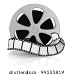 front view of a film reel with... | Shutterstock . vector #99335819