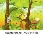 squirrels in the jungle | Shutterstock .eps vector #99344420