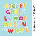 fun alphabet design. vector... | Shutterstock .eps vector #99344609