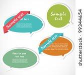 colorful speech bubbles | Shutterstock .eps vector #99344654