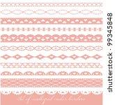 set of scalloped vector borders ... | Shutterstock .eps vector #99345848