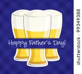 """""""Happy Father's Day"""" beer card in vector format. - stock vector"""