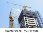 high rise construction in... | Shutterstock . vector #99349508