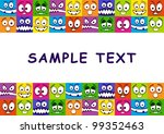 abstract background  with funny ... | Shutterstock .eps vector #99352463