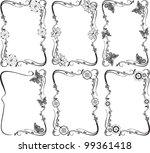 vector flower frame set | Shutterstock .eps vector #99361418