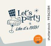 vintage clip art   let's party  ...