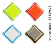 set of four rhombus metal and... | Shutterstock . vector #99369638