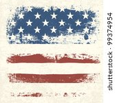 american flag vintage textured... | Shutterstock . vector #99374954