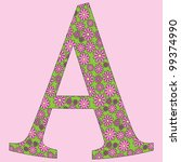 image of a flower alphabet font ... | Shutterstock .eps vector #99374990